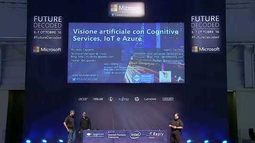 #FutureDecoded 7 Ottobre 2016 - Visione artificiale con Cognitive Services, IoT e Azure