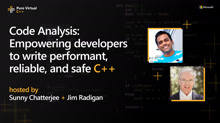 Code Analysis: Empowering developers to write performant, reliable, and safe C++