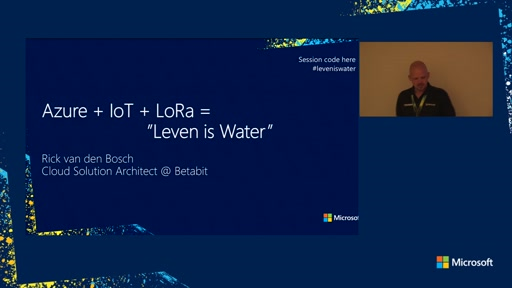 "Case Study: Azure + IOT + LoRa = ""Leven is Water"""