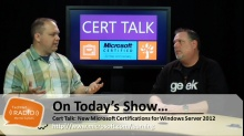 TechNet Radio: Cert Talk: New Microsoft Certifications for Windows Server 2012