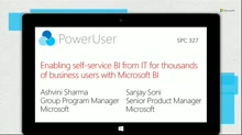 Enabling self-service BI from IT for thousands of business users with Microsoft BI