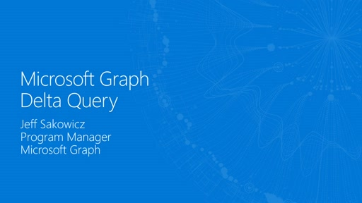 Use Microsoft Graph Delta Query to keep data up to date