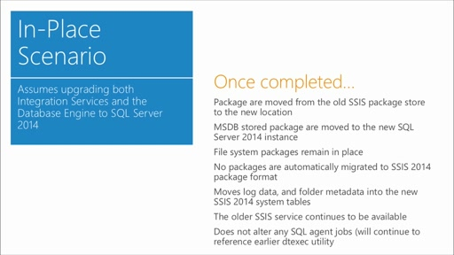 Upgrading to Microsoft SQL Server 2014: (05) Upgrading SQL Server Integration Services (SSIS)