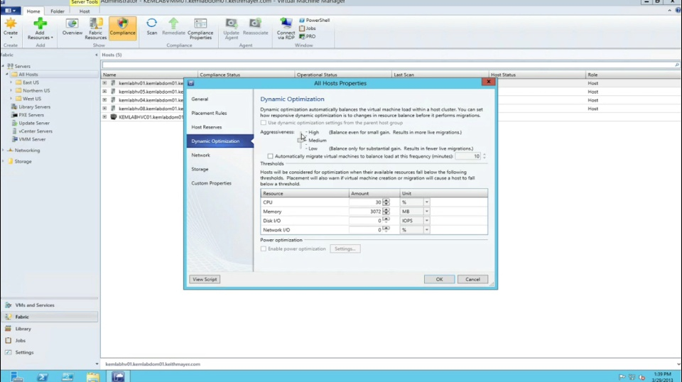 TechNet Radio: (Part 11) Building a Private Cloud with System Center 2012 Service Pack 1 – Dynamic Optimization of the Private Cloud Fabric