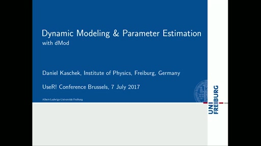 Dynamic modeling and parameter estimation with dMod