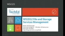 WS2012 File and Storage Services Management