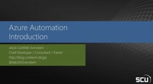 Azure Automation – Introduction