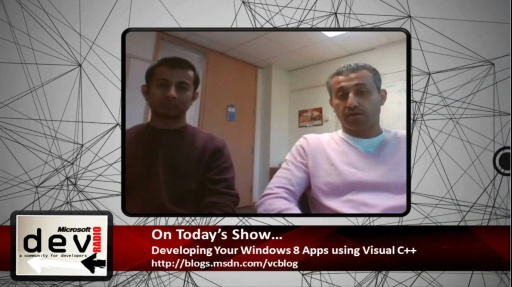 Microsoft DevRadio: Developing Your Windows 8 Apps using Visual C++
