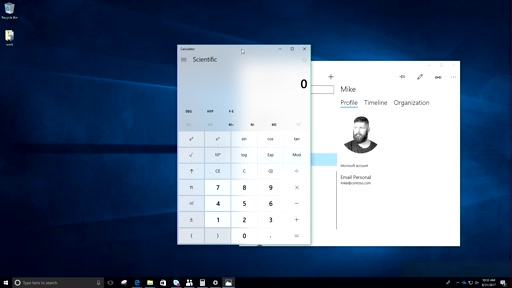 Fluent Design features for Fall Creators Update