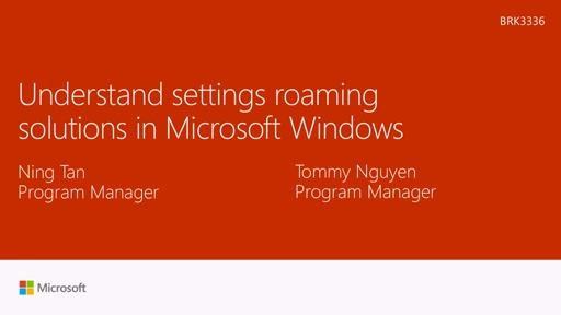 Understand settings roaming solutions in Windows