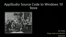 AppStudio Publish to Windows 10 Store from Source Code
