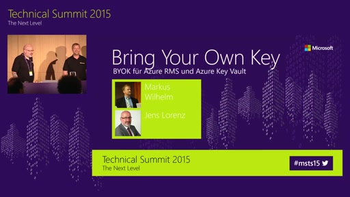 Bring your own key für Azure RMS und Azure Key Vault
