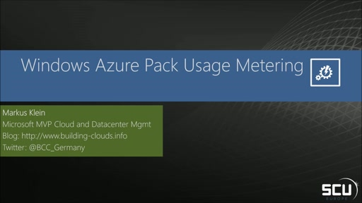 Windows Azure Pack usage metering