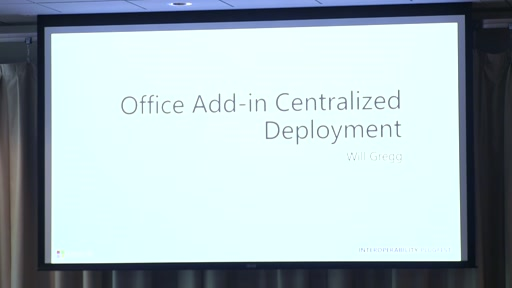 Office Add-in Centralized Deployment