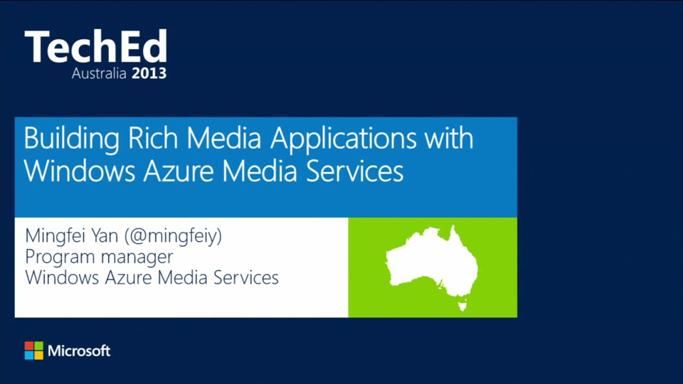 Building Rich Media Applications with Windows Azure Media Services