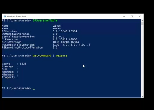 Introduction to PowerShell 5