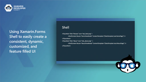 Using Xamarin.Forms Shell to easily create a consistent, dynamic, customized, and feature filled UI
