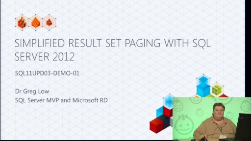 Demo: Simplified Result Set Paging with SQL Server 2012
