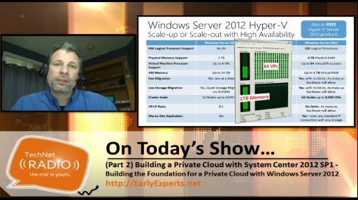 TechNet Radio: (Part 2) Building a Private Cloud with System Center 2012 Service Pack 1– Laying the Foundation with Windows Server 2012