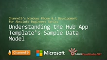 Part 16 - Understanding the Hub App Template's Sample Data Model
