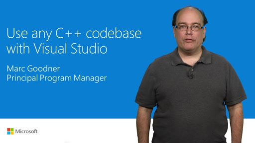 Use any C++ code base with Visual Studio 2017