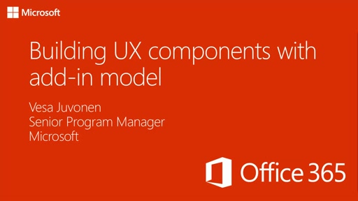 PnP Add-In Transformation Training module 4: Building UX components with add-in model