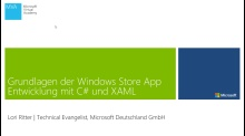 01 | Windows Designsprache und Windows Plattform Funktionen