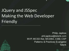 jQuery and JSSpec – Making the Web More Developer Friendly