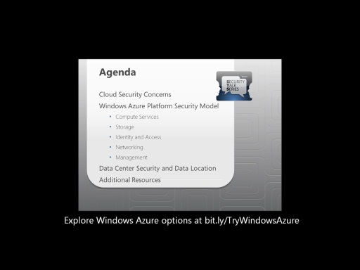 Windows Azure Platform Security Essentials for Technical Decision Makers