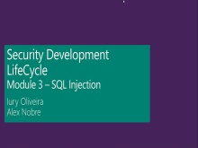 Security Development LifeCycle - Módulo 03 - SQL Injection