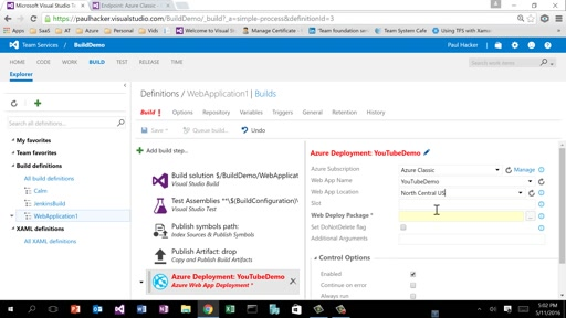 5: Azure Deployment with VSTS Build