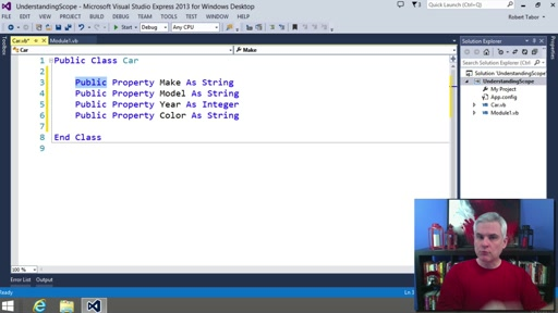 Visual Basic Fundamentals for Absolute Beginners: (19) Understanding Modules, Scope and Utilizing Accessibility Modifiers