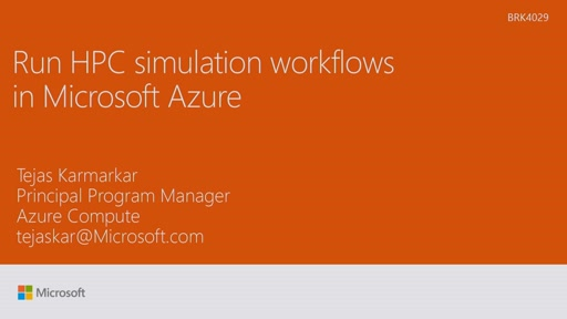 Run HPC simulation workflows in Microsoft Azure