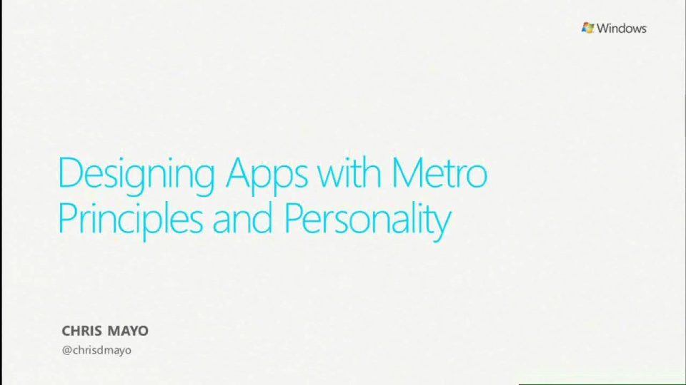Designing Apps With Metro Principles and Windows Personality
