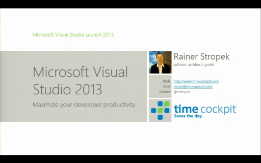 Katapult.10 – Visual Studio 2013 Launch - Visual Studio 2013 - Maximize your developer productivity