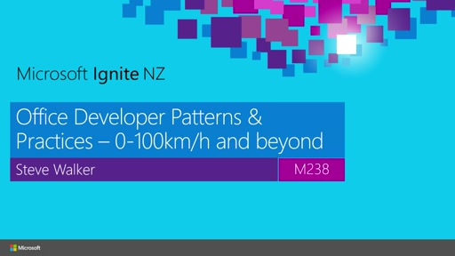 Office Developer Patterns & Practices – 0-100kph and beyond