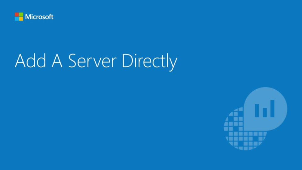 Connect Servers Directly to OpInsights