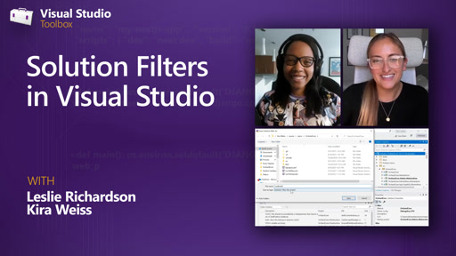 Solution Filters in Visual Studio