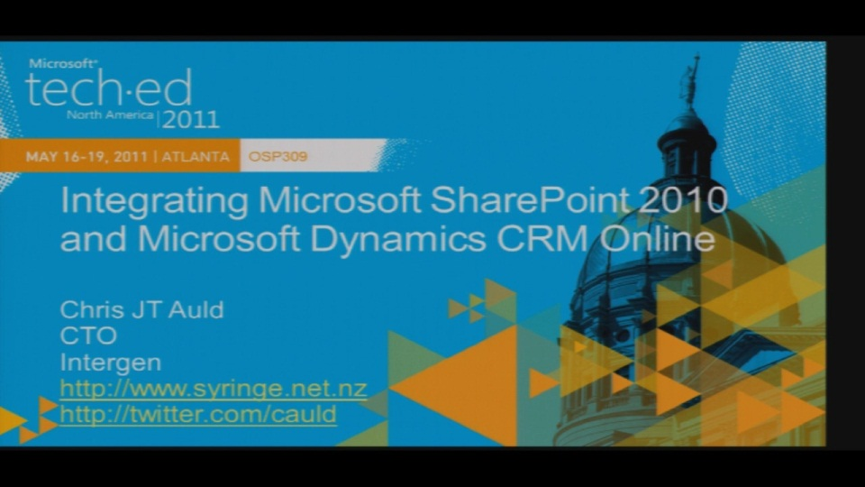 A Developer's Guide to Integrating Microsoft Dynamics CRM 2011 & SharePoint 2010