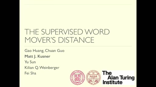 Supervised Word Mover's Distance