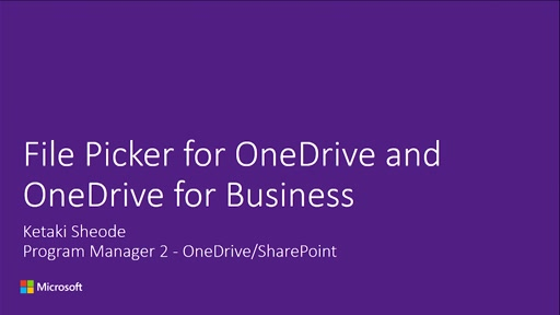 Introducing the File Picker for OneDrive and OneDrive for Business