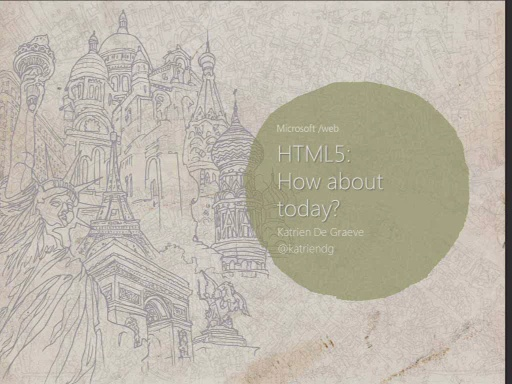 Web Camps Belgium HTML5: How about today?