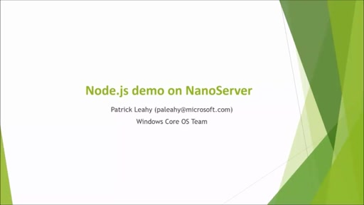 Nano Server Node.JS Demo