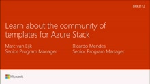 Learn about the community of templates for Azure Stack