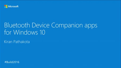 Bluetooth Device Companion Apps for Windows 10