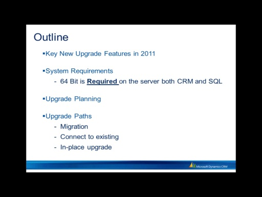 Upgrading from CRM 4.0 to CRM 2011