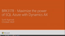 Maximize the power of SQL Azure with Dynamics AX