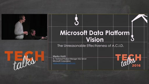 Tech Talks 2016 Flexera Stage Microsoftin Data Platform Visio
