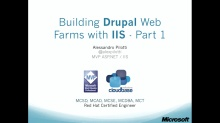 3. Building Drupal Web Farms with IIS – part 1