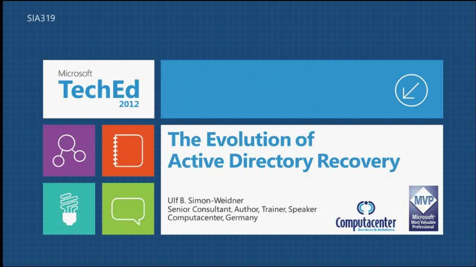 The Evolution of Active Directory Recovery